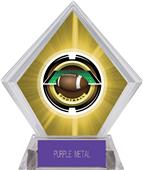 "2"" Saturn Football Yellow Diamond Ice Trophy"