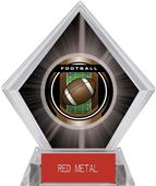 "2"" Legacy Football Black Diamond Ice Trophy"