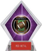"2"" Legacy Football Purple Diamond Ice Trophy"