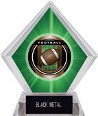 "2"" Legacy Football Green Diamond Ice Trophy"