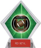 "2"" Legacy Football Green Diamond Ice Trophy"