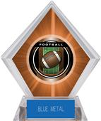 "2"" Legacy Football Orange Diamond Ice Trophy"