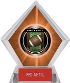 "2"" Legacy Football Orange Diamond Ice Trophy"