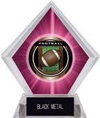 "2"" Legacy Football Pink Diamond Ice Trophy"