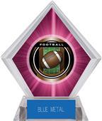 "2"" Legacy Football Pink Diamond Ice Trophy"