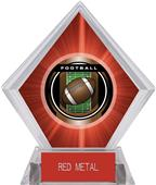 "2"" Legacy Football Red Diamond Ice Trophy"