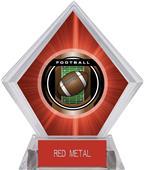 "2"" Legacy Football Red Diamond Ice Trophy"