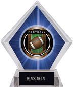 "2"" Legacy Football Blue Diamond Ice Trophy"
