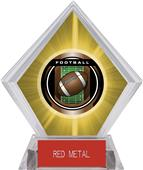 "2"" Legacy Football Yellow Diamond Ice Trophy"