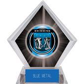"2"" Legacy Swimming Black Diamond Ice Trophy"