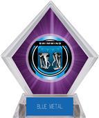 "2"" Legacy Swimming Purple Diamond Ice Trophy"