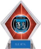 """2"""" Legacy Swimming Red Diamond Ice Trophy"""