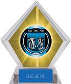 "2"" Legacy Swimming Yellow Diamond Ice Trophy"