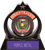 "Hasty Awards Eclipse 6"" Shield Softball Trophy"
