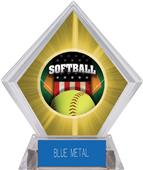 Patriot Softball Yellow Diamond Ice Trophy