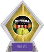 Patriot Softball Yellow Diamond Ice Trophy