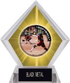P.R.1 Softball Yellow Diamond Ice Trophy