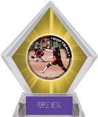 P.R.1 Softball Yellow Diamond Ice Trophy