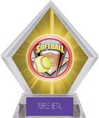 ProSport Softball Yellow Diamond Ice Trophy