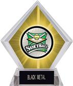 Xtreme Softball Yellow Diamond Ice Trophy