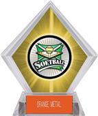 Xtreme Softball Yellow Diamond Ice Trophy