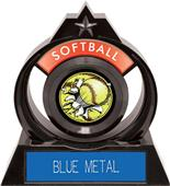 """Hasty Awards Eclipse 6"""" Bust-Out Softball Trophy"""