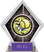 Awards Bust-Out Softball Black Diamond Ice Trophy