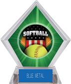 Awards Patriot Softball Green Diamond Ice Trophy