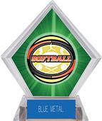 Awards Classic Softball Green Diamond Ice Trophy