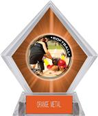Awards P.R.2 Softball Orange Diamond Ice Trophy