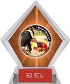 Awards P.R.2 Softball Orange Diamond Ice Trophy