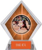 Awards P.R.1 Softball Orange Diamond Ice Trophy