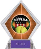 Awards Patriot Softball Orange Diamond Ice Trophy