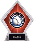 Eclipse Baseball Red Diamond Ice Trophy
