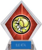 Awards Bust-Out Softball Red Diamond Ice Trophy