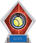 Awards Eclipse Softball Red Diamond Ice Trophy