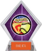 Award Americana Softball Purple Diamond Ice Trophy