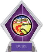 Award Americana Softball Purple Diamond Ice Trophy