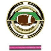 "Hasty Awards Football 3"" Saturn Medals"