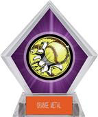 Awards Bust-Out Softball Purple Diamond Ice Trophy