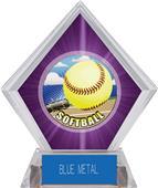 Awards HD Softball Purple Diamond Ice Trophy