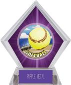 Awards HD Softball Purple Diamond Ice Trophy