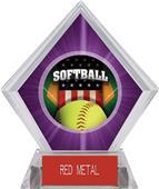 Awards Patriot Softball Purple Diamond Ice Trophy