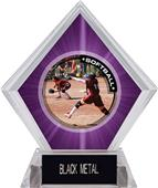 Awards P.R.1 Softball Purple Diamond Ice Trophy