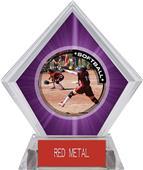 Awards P.R.1 Softball Purple Diamond Ice Trophy