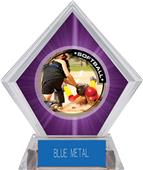 Awards P.R.2 Softball Purple Diamond Ice Trophy