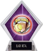 Awards ProSport Softball Purple Diamond Ice Trophy