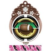 "Hasty Awards Tiara 3"" Football Saturn Medals"