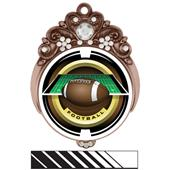 "Hasty Awards Tiara 3"" Football Saturn Medals"