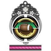"Hasty 3"" Tiara Medal 2"" Saturn Football Mylar"
